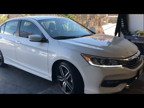 white 2017 honda accord sport tinted by winning window tints cali youtube. Black Bedroom Furniture Sets. Home Design Ideas