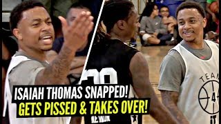 Isaiah Thomas Gets HEATED & CATCHES FIRE!! HOODIE Kelly OUBRE Gets BUCKETS at ZekeEnd!