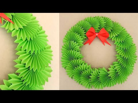 DIY Paper Christmas Wreath | Decoration Ideas for Upcoming Christmas. New YEAR 2020