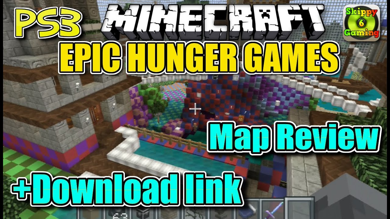 MINECRAFT - PS3 - EPIC HUNGER GAMES MAP REVIEW + DOWNLOAD ...