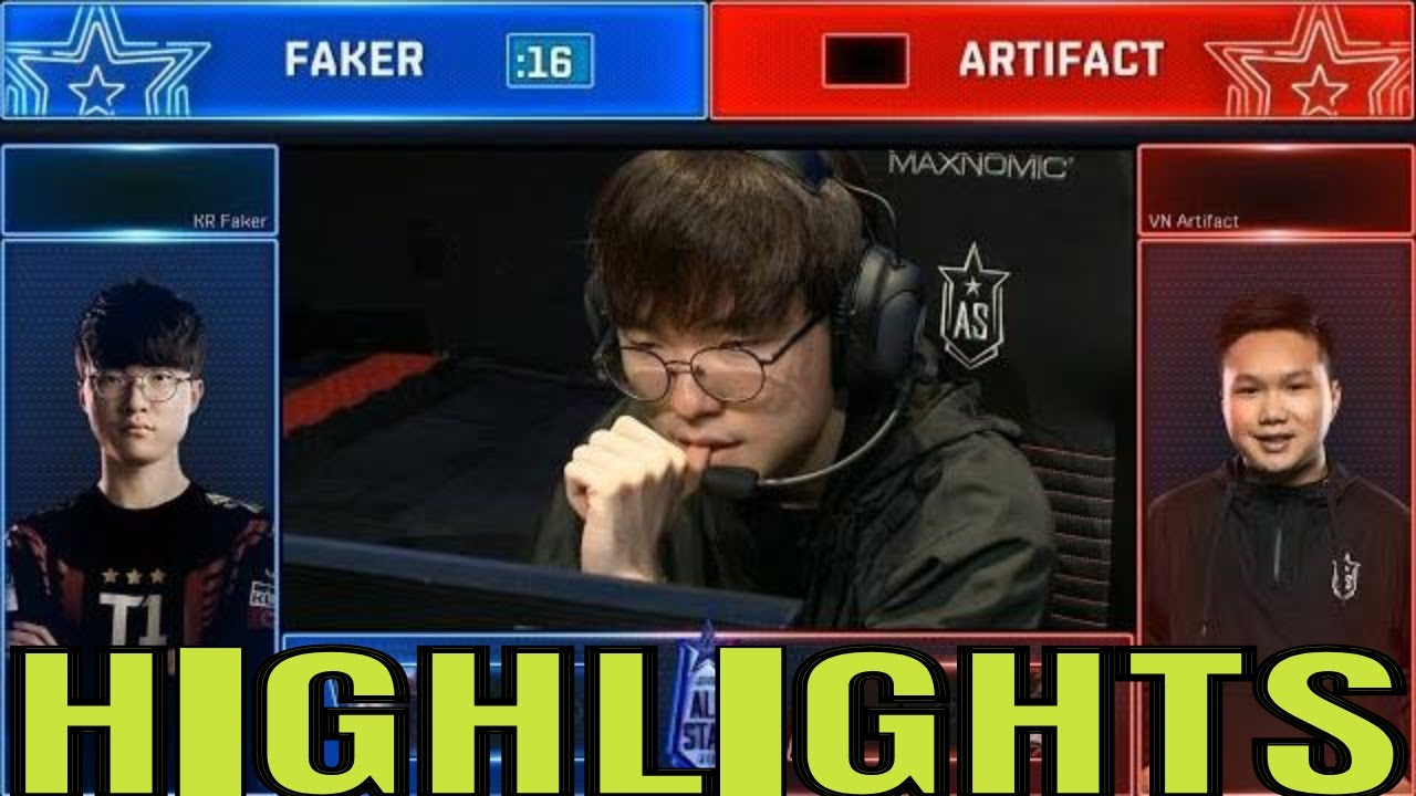 Faker vs Artifact 1v1 Highlights | All Star 2018 Day 1 | KR vs VN