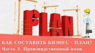 Как составить бизнес-план   Производственный план