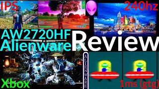 Alienware AW2720HF Review (240hz/IPS/AlienFX)