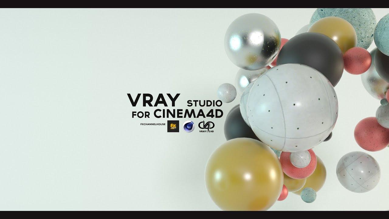 Vray studio for Cinema4D (vray preset & free materials)