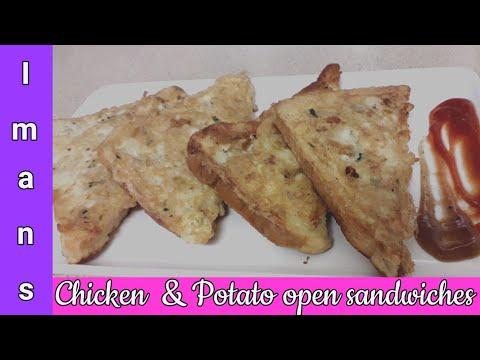 Chicken And Potato Open Sandwiches   Tea Time Snack   Kids Lunch Box Ideas