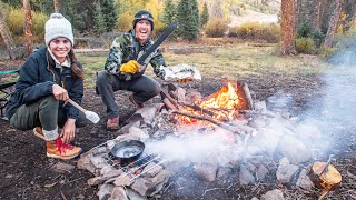 MOUNTAIN TROUT FISHING | Cooking with Camp Fire Coals!