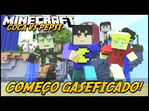 Minecraft: COCA VS PEPSI - COMEÇO GASEIFICADO! #1 (Lucky Block Mod)
