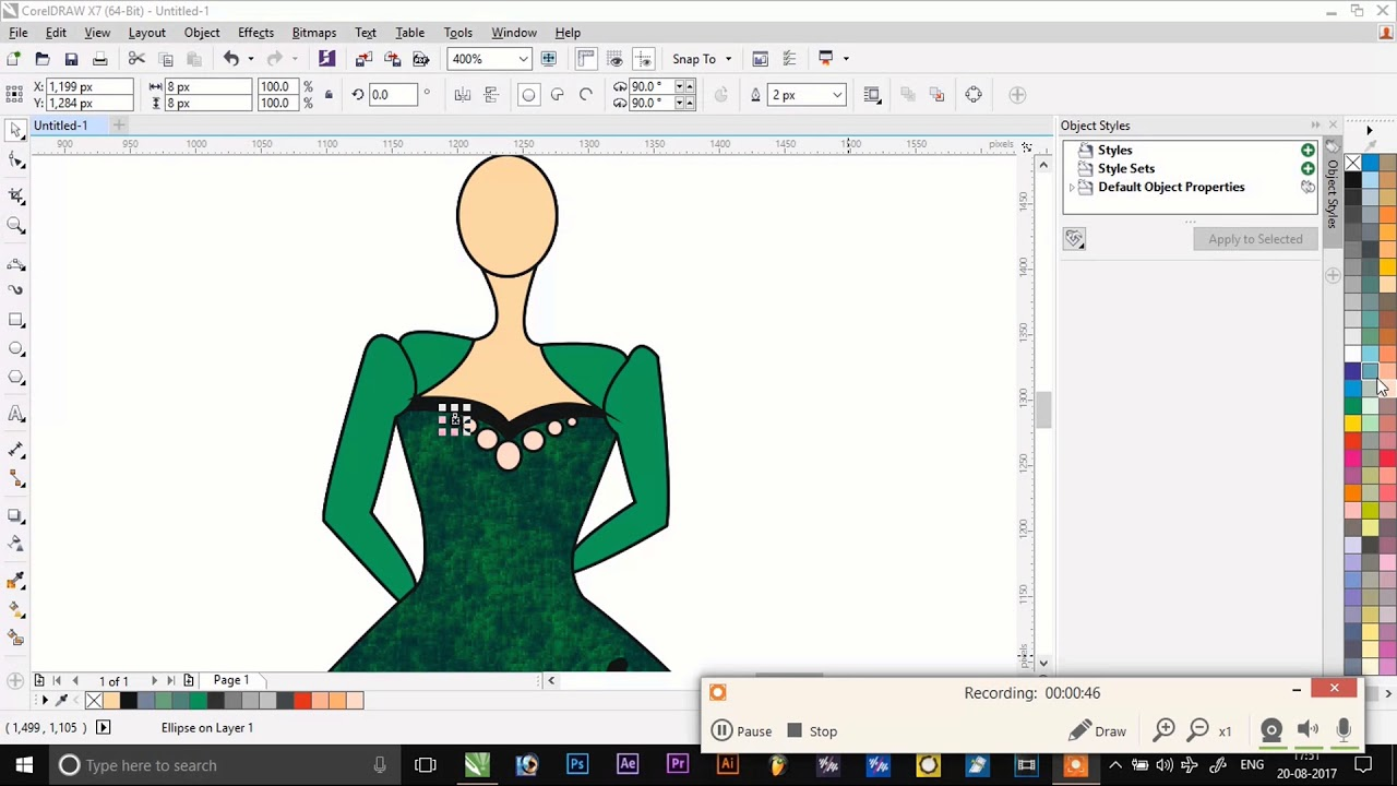 How To Make A Dress In Corel Draw Youtube
