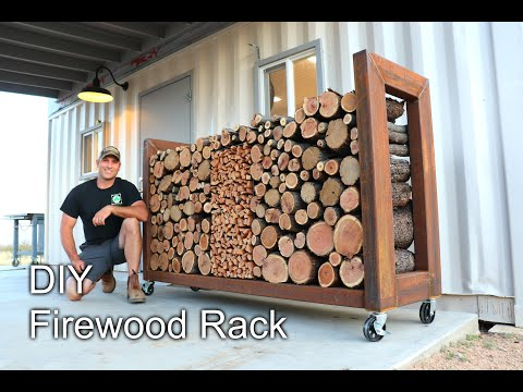 How To Build A DIY Firewood Rack - Overbuilt To Last!