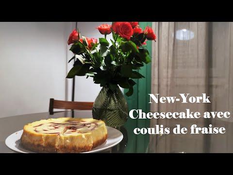 new-york-cheesecake-|-avec-coulis-de-fraise-|-nadia-en-cuisine