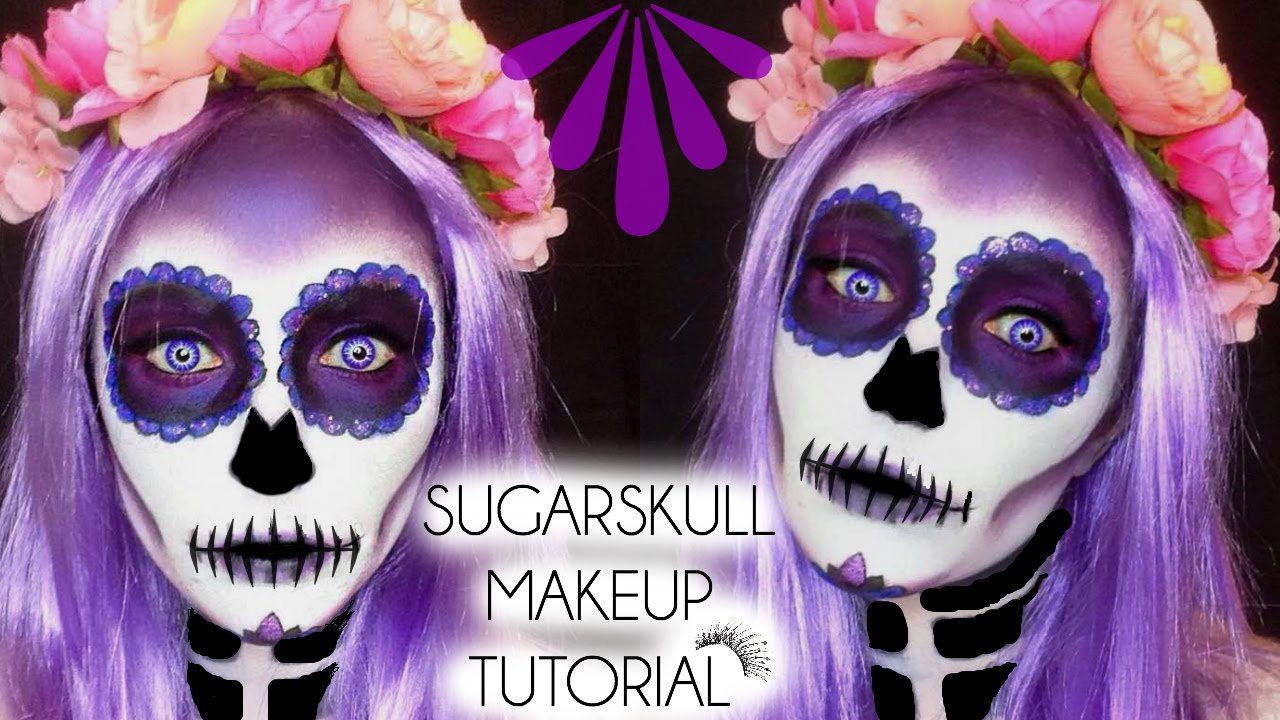 Halloween Sugarskull Day Of The Dead Makeup Tutorial Laura - Day-of-the-dead-makeup-tutorial-video