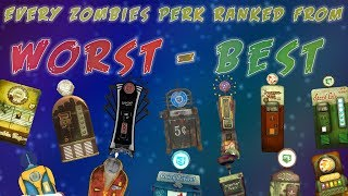 EVERY ZOMBIES PERK RANKED FROM WORST TO BEST- Which perk is the best? (Call of Duty: Zombies)
