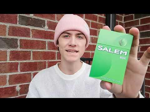 Smoking a Salem Menthol Cigarette and Chilling