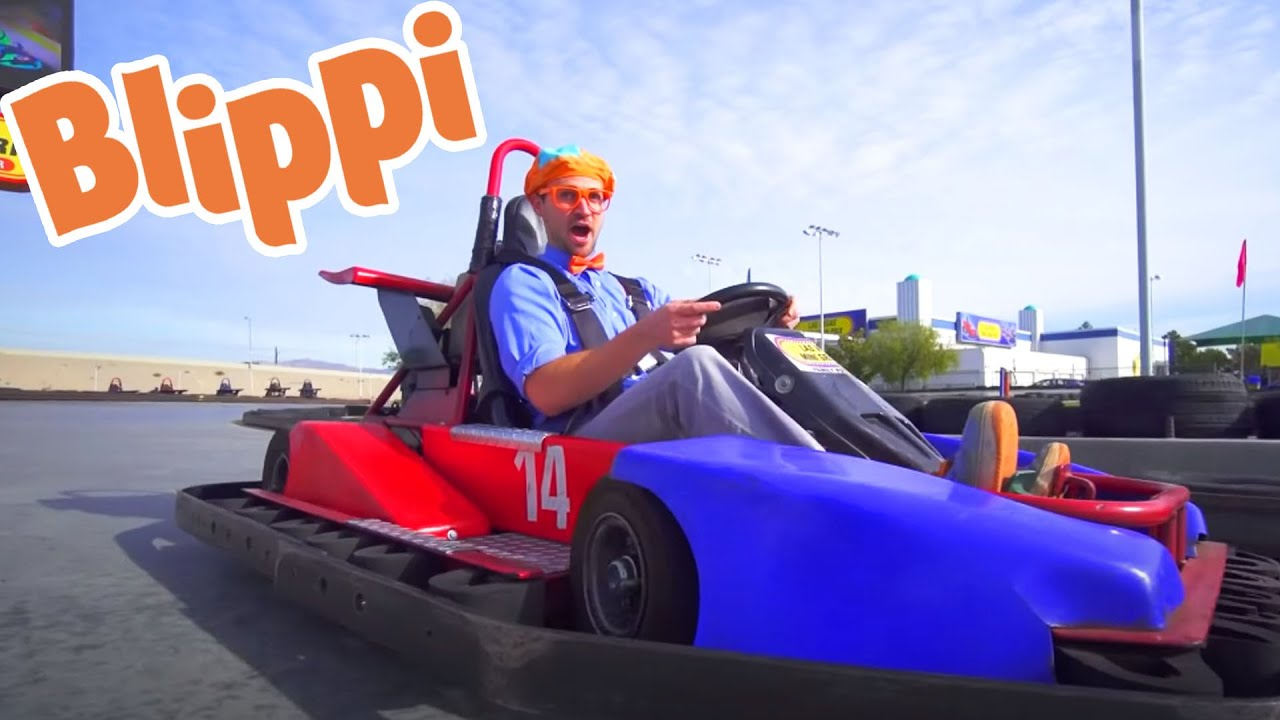 Blippi Visits the Go Kart Track & More Learning For Kids | Educational Videos For Children