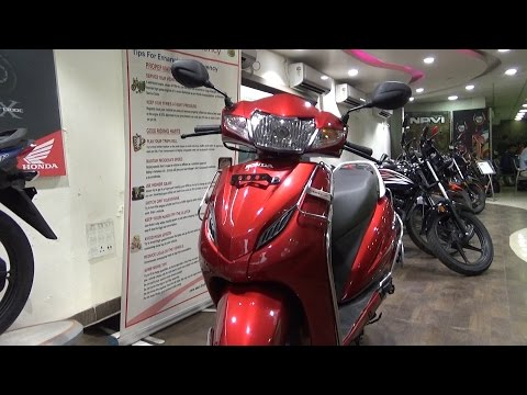 NEW BSIV HONDA ACTIVA 4G COLOR  IMPERIAL RED METALLIC WALK AROUND VIDEO