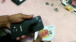 How to Samsung galaxy a5 2016  back glass remove