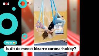 Gezin gaat viral met circus-trucs in eigen huis