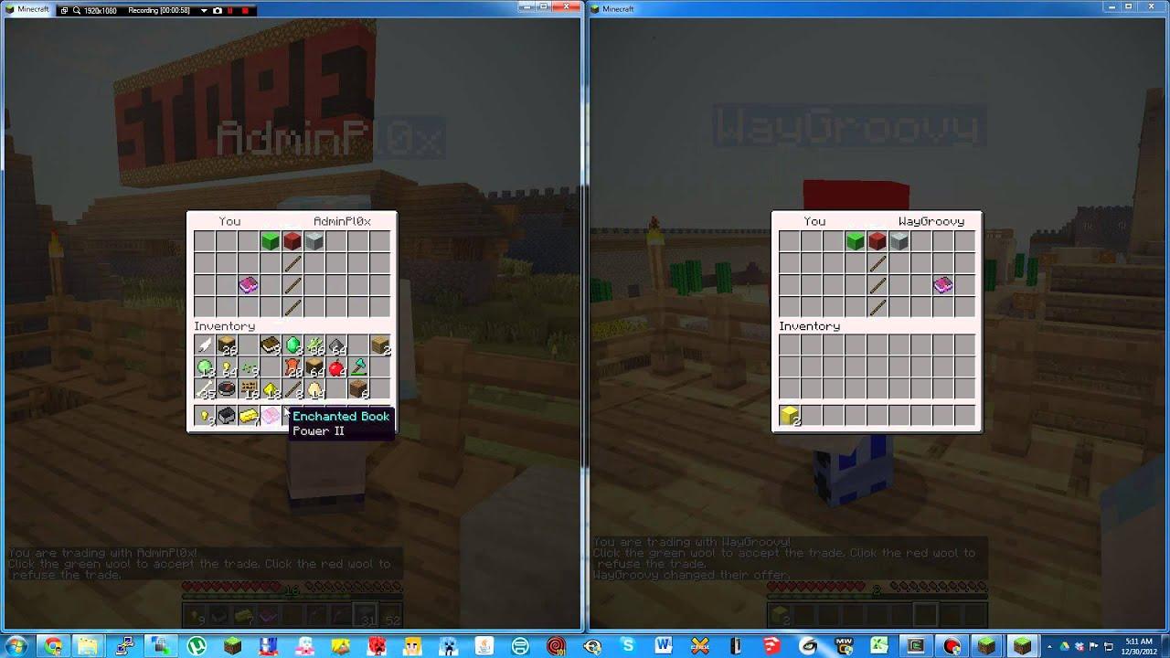 Minecraft : Trade Plugin - YouTube