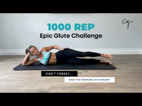 1000 REP Epic Glute Challenge | Workout with No Equipment