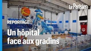 En Tunisie, ce maire a récolté des dons pour transformer un terrain de basket en unité anti-Covid