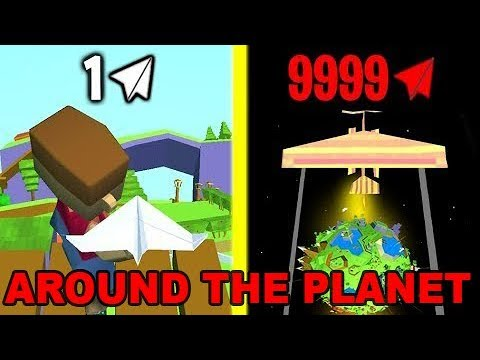 Paper Plane Planet - World record! Max Level! What is the end? + HACK