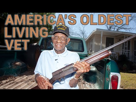America's oldest living Vet turns 109 and shows us his guns