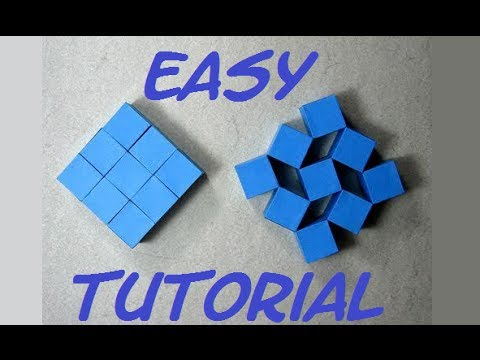How To Make Origami Moving Cubes Easy Full Hd Craft From Origami