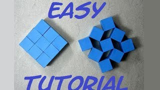 How To Make Origami Moving Cubes Easy. (Full HD) (Craft From Origami)