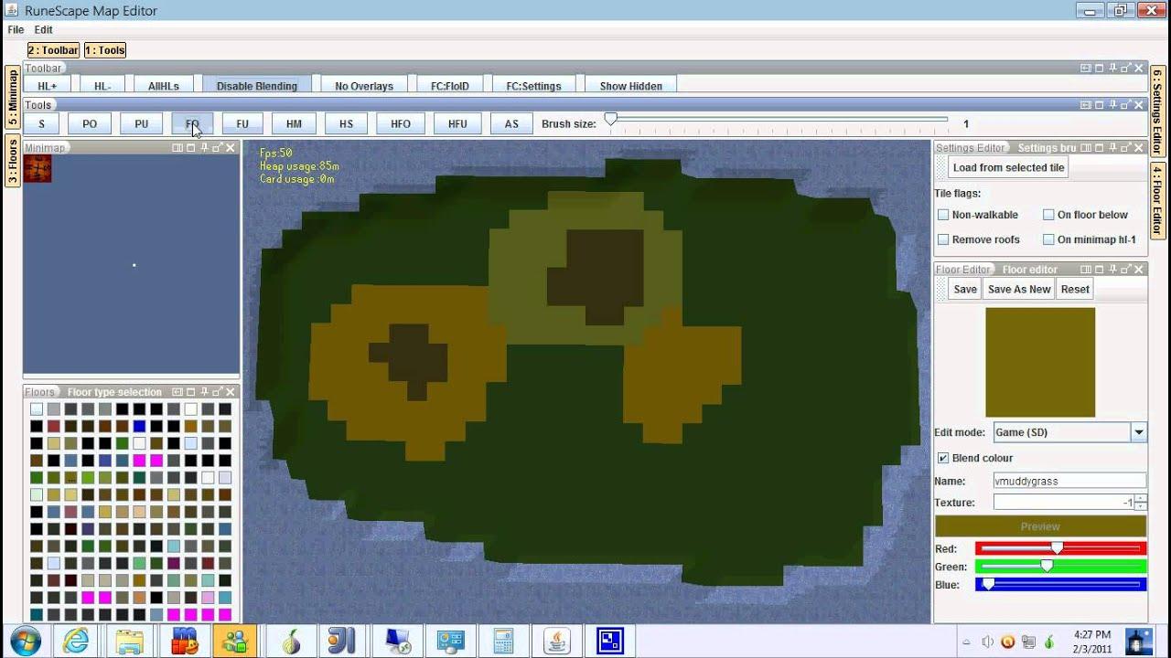 RuneScape MapEditor 3 - Map Editing - YouTube