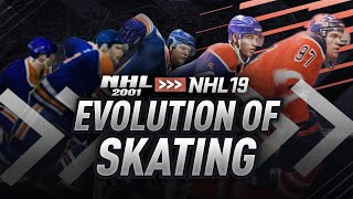 The Evolution of Skating from NHL 2001 to NHL 19