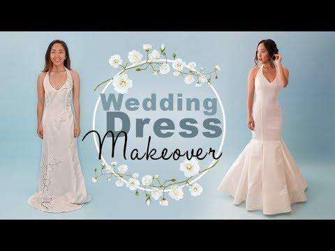 Diy Wedding Dress.Diy Wedding Dress Makeover Thrifted Transformations Youtube