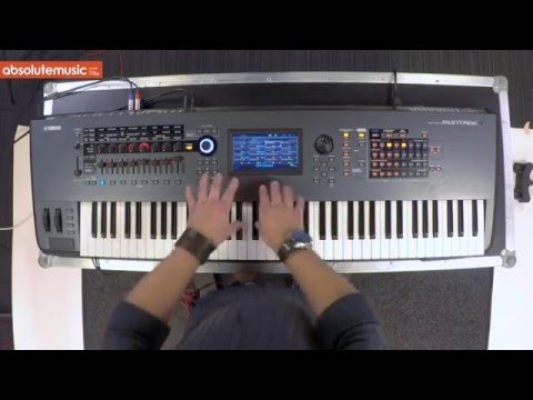 yamaha montage 7 76 note synthesizer youtube. Black Bedroom Furniture Sets. Home Design Ideas