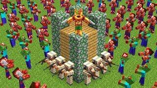 АРМИЯ ИЗ 1000 ВОЕННЫХ ПРОТИВ АРМИЯ ИЗ 1000 ЗОМБИ В МАЙНКРАФТ! ЗОМБИ ОКРУЖИЛИ НАС! ЗОМБИ АПОКАЛИПСИС