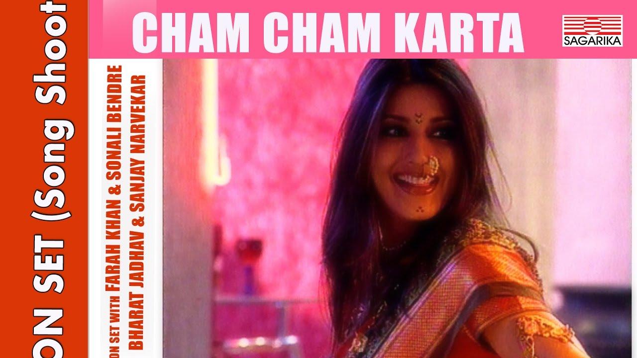 Farah Khan Choreographs Sonali Bendre On Set Cham Cham Karta Youtube
