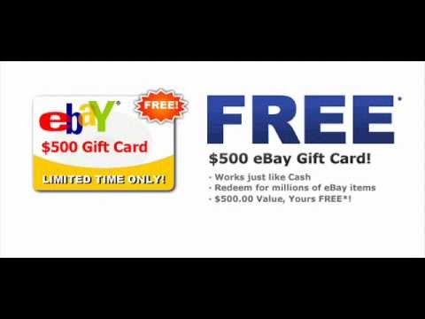 Win A Free 500 Ebay Gift Card Limited Time Only Daily Draws Youtube