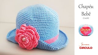Chapéu de Bebê em Crochê – Passo a Passo