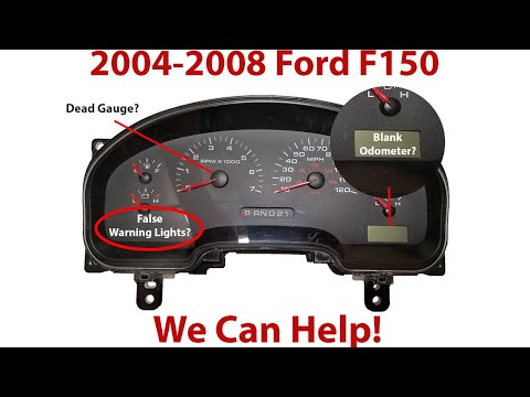 How To Remove 2004-2008 Ford F-150 Gauge Cluster With Odometer Problem