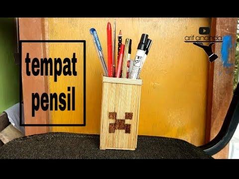 Membuat Tempat Pensil Dari Tusuk Sate