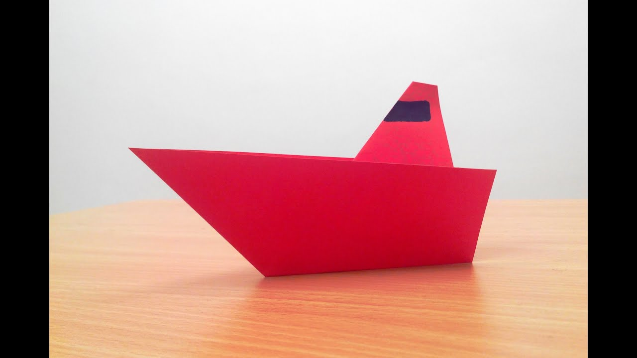 How to make an origami boat step by step. - YouTube