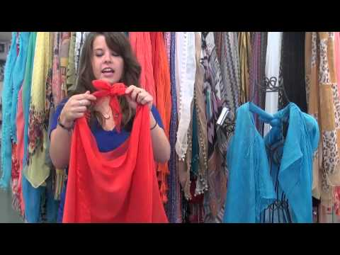 How To Make A Vest From A Scarf Youtube