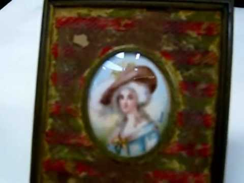 Antique Miniature  Ivory Portrait