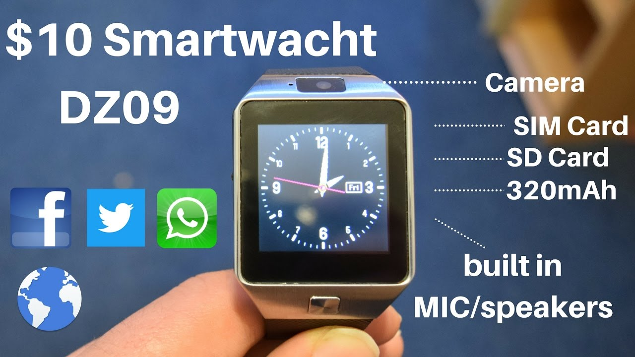 Dz09 10 Smartwatch Full With Functions Youtube