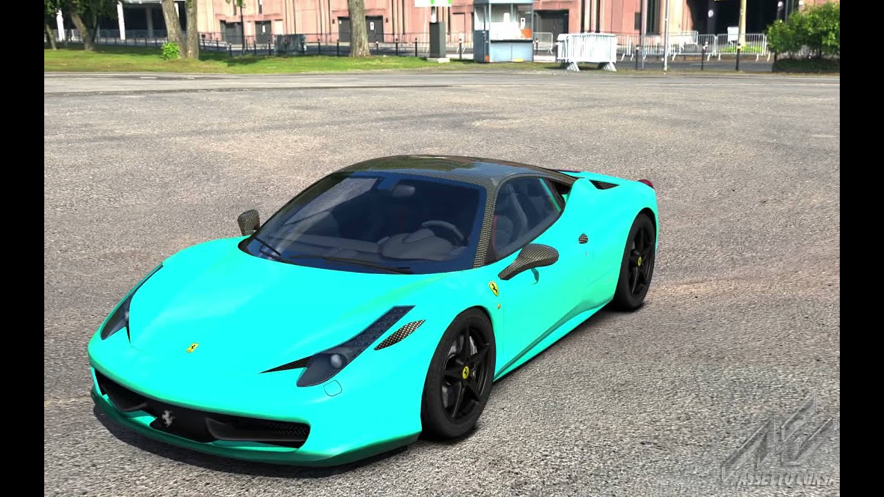Assetto Corsa 458 Italia Carbone Turquoise Youtube