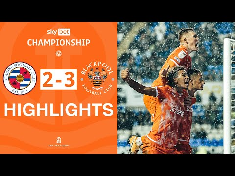 Reading Blackpool Goals And Highlights