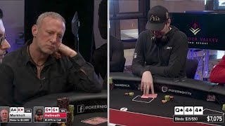 Hellmuth TILTS about folding pairs! | Poker Night in America S5 E15