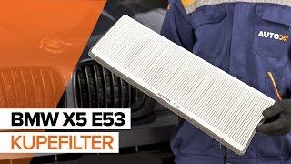 Så byter du kupefilter på BMW X5 E53 GUIDE | AUTODOC