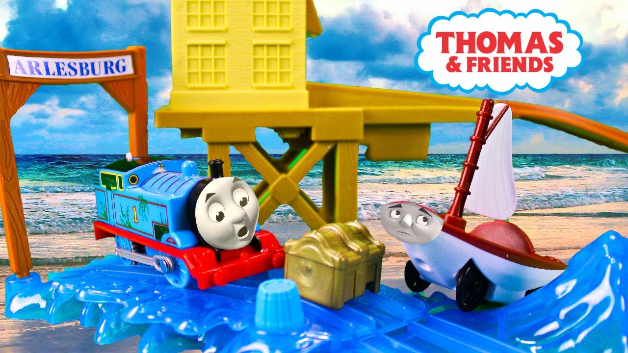 Fisher price thomas amp friends trackmaster treasure chase set new - Thomas And Friends Trackmaster Treasure Chase Set Accidents Will Happen Kids Playing Toy Trains Youtube