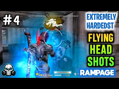 Extremely Hardest Flying Headshots Killing Montage #4 In Rampage Mode - Garena Free Fire