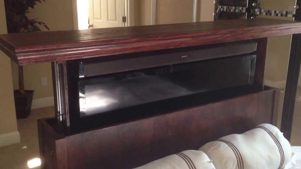 Amazingly Thin TV lift Cabinet  YouTube