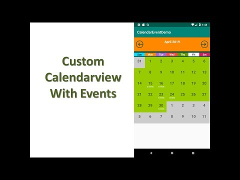 Calendar View With Events Android